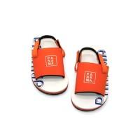 Sepatu Sandal Anak-Anak Panama Baby Selop White Orange BBO03