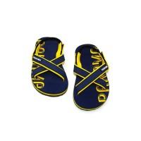 Sepatu Sandal Anak-Anak Panama Baby Cross Navy Yellow BBC01