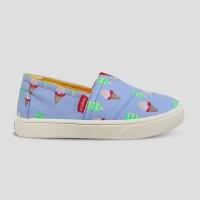 Sepatu Anak Slip-On WAKAI KIDS SLG11801 HASHIGO BLUE ICE CREAM