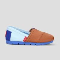 Sepatu Anak Slip-On WAKAI KIDS CB11815 CORE POWDER BLUE BROWN