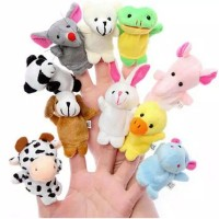 10 pcs Boneka Jari Hewan / Animal Finger Puppet. Mainan Tangan Bayi