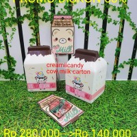 PROMO squishy creamiicandy yummiibear cow milk carton