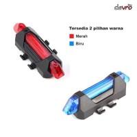 Terbaru Lampu Sepeda 5 LED Taillight Rechargeable