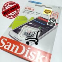 MEMORY Micro SD Card SanDisk 32GB Ultra CLASS10 80Mbps Garansi Resmi