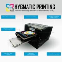 Paket Mesin DTG A3 Complete Hygmatic tipe HIGHTECH V.3 (+print lengan)