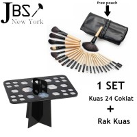 JBS NEW YORK MAKEUP BRUSH 24 SET - KUAS MAKE UP SET 24 PCS WOODEN