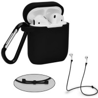 Airpod case airpods pouch premium quality free tali strap dan hanger