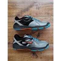 Sepatu Badminton Pria Eagle MOONLIGHT Sepatu Bulutangkis For Men - Abu Muda Hitam, 38