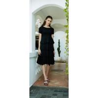 Post Mode Premiere Crumple Short Sleeve Annette Dress