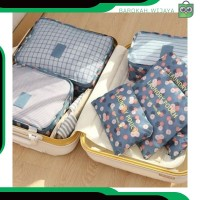 A301 fashion tas koper pouch pria wanita tas organizer travel 6 in 1