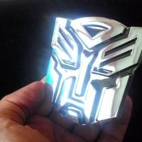 Emblem Transformers Autobots Chrome / Lambang Transformer Autobot