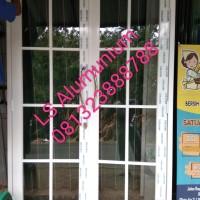 pintu alumunium kaca ornamen T210cm L144cm