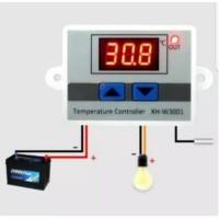 Thermostat digital XH W3001 DC 12v 10A termostat temperatur suhu