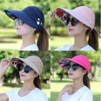 Topi Pantai Golf Lipat Korea Wanita Import Topi Fashion Wanita Outdoor