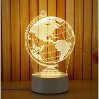 Lampu Meja 3D Lampu Malam LED Cocok untuk Souvenir Hadiah Pernikahan