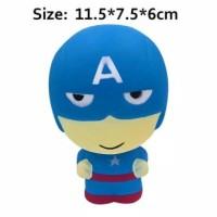 Mainan Squishy Superhero Avenger Iron Man Spiderman Captain Amerika