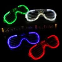 Kacamata LED Garis Lampu DJ Glow Pesta 3 Mode Nyala Atraktif Clubbing