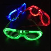 Kacamata LED Garis Lampu DJ Glow Pesta 3 Mode Nyala Atraktif