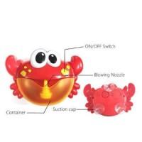 Mainan KEPITING BUSA/BUBBLE CRAB Pembuat Gelembung untuk Mandi Anak