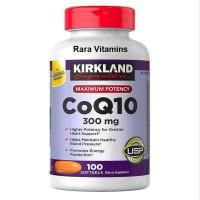 NEW Kirkland Signature CoQ10 300 mg 100 Softgels Suplemen J