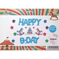 Balon Foil Set Happy Birthday / Balon Paket Ulang Tahun Little Pony