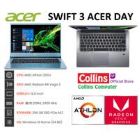 """LAPTOP ACER SWIFT 3 SF314 (8GB)-ATHLON 300U 8GB 256GB SSD 14""""FHD WIN10"""