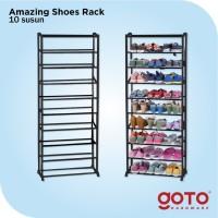 Amazing Portable Shoe Rack Rak Sepatu Lipat 10 tingkat Susun Murah