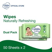 Cussons Baby Wipes Natural Refreshing 50 Sheet X 2