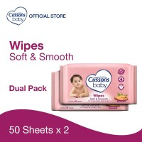 Cussons Baby Wipes Soft & Smooth 50 Sheet X 2