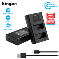 Charger Dual LCD KINGMA LP-E8 /LC-E8 for Canon EOS 700D 650D 600D 550D