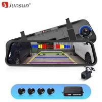 Junsun Mirror Dash Camera Car DVR with Sensor Parking Rearview Dashcam