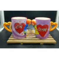 Mug karakter COUPLE Set 2pc - Gelas 3D couple - gelas couple sepasang