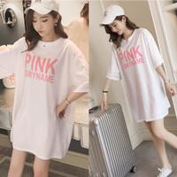 Damai fashion - baju atasan KAOS JUMBO - big size PINK ISMYNAME