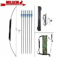 1 Set Busur Panah Lipat Folding Bow + Arrow 6 pcs