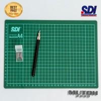 Cutting Mat A4 + Cutter Pen SDI