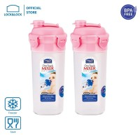 Lock&Lock Water Bottle Shaker 690ML With Gift Box (Pink 2P) HPL934MBP2