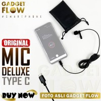 Microphone Mic Clip On Jepit Deluxe USB Type C Tipe C untuk Smartphone