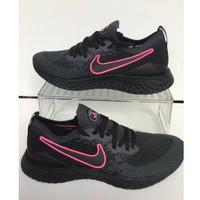 Sepatu Nike Epic React Flyknit PSG Black Pink - Premium Quality