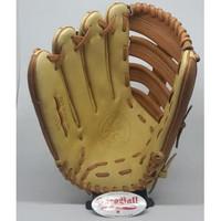Glove Baseball Softball All Leather IKJ 13,1/2 inch Brown ivory LEFT