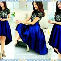 New Dress Elegant Lace Blue