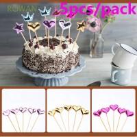 5Pcs Dekorasi Kue Ulang Tahun Bentuk Mahkota