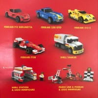 lego shell ferrari seri 2 set of 7