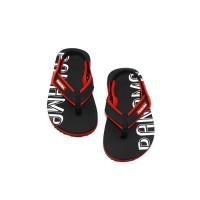 Sepatu Sandal Anak-Anak Panama Baby Jepit Black Red BBT02