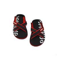 Sepatu Sandal Anak-Anak Panama Baby Cross Black Red BBC02