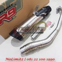Knalpot Racing R9 H2 SS ORI Full System Free DB Killer Yamaha NMAX