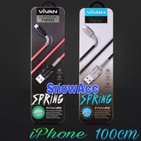 Vivan Kabel Data Charger iPhone FL100 2.4A 1M Spring Lightning iPhone