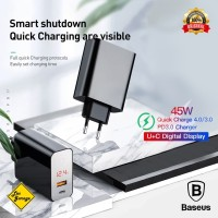 Charger Super Fast Charging Baseus Quick Charge QC 3.0 4.0 PD Type C