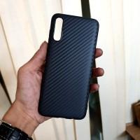 Samsung A70 Soft TPU Carbon Fiber Protect Back Cover Case
