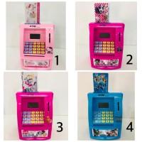 ATM celengan karakter hello kitty dan robocar poli- mainan atm