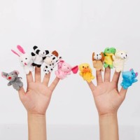Boneka jari hewan binatang mainan / Animal Finger Puppet ( SATUAN )